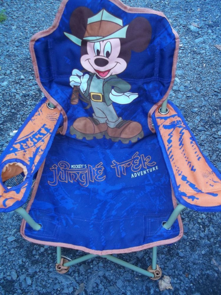 Collectible Mickey Mouse camping chair Mickey's Jungle Trek adventure kids RARE