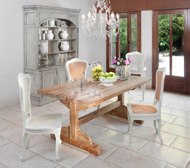 Rustic Chic Dining Room Tables farm style trestle table design, pictures, remodel, decor and
