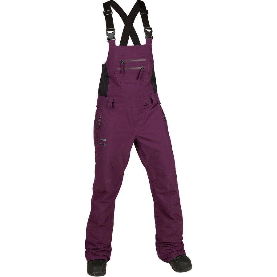 Pocket One-Piece Suspenders Trousers Outdoor Ski Trousers TopLAD Womens Snow Pants Adjustable Back Strap Pants,Womens Insulated Bib Overalls Solid Color
