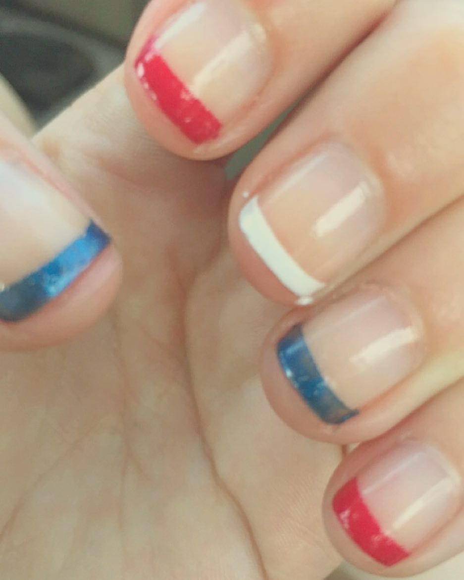 Memorial Day gel nails #nails #gel #red #white #blue #memorialday ...