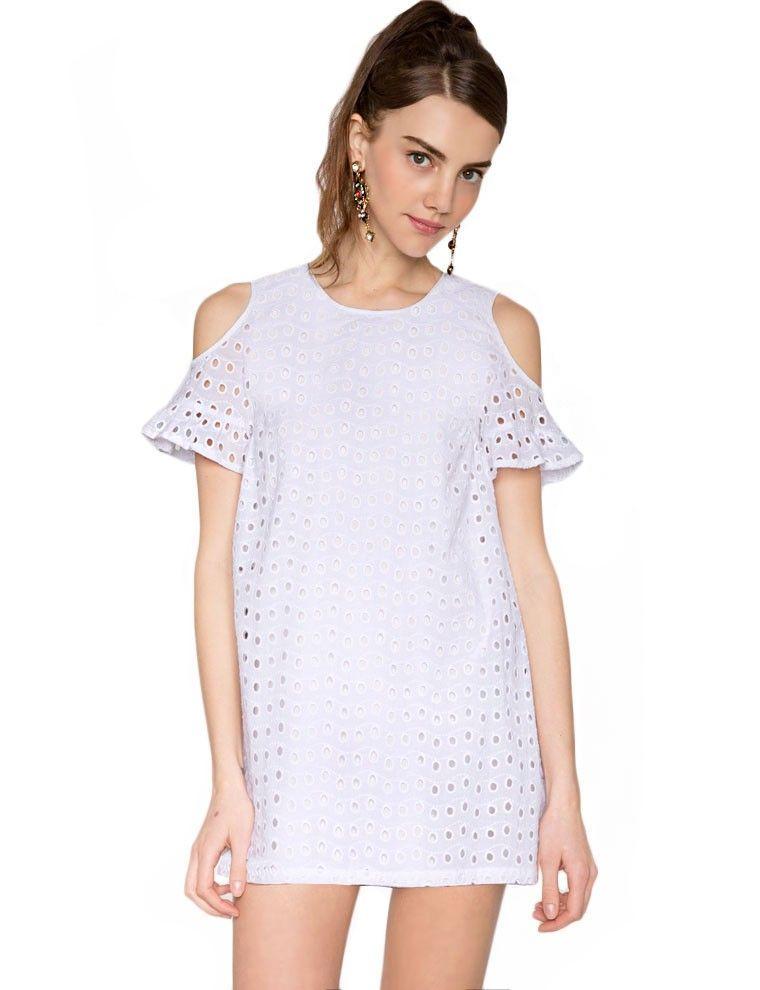 Eyelet Lace Dress - Little White Dress - Cute Summer Dresses