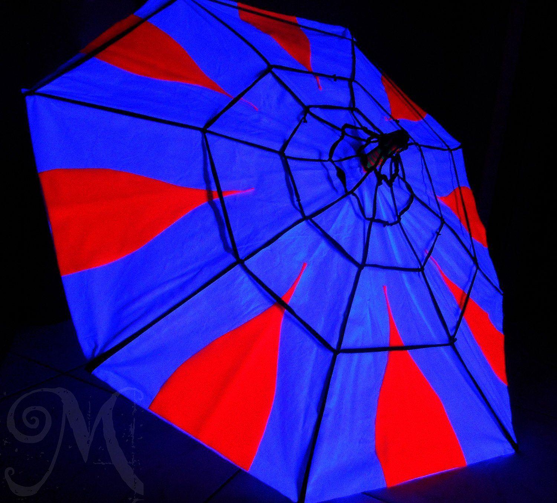 Fluo Party Decoration Spider Web Umbrella Decorazioni