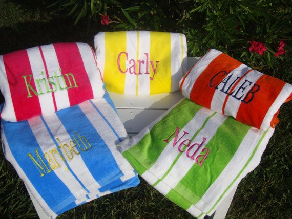Bulk Price 10 Personalized Beach Towels in 11 Colors for