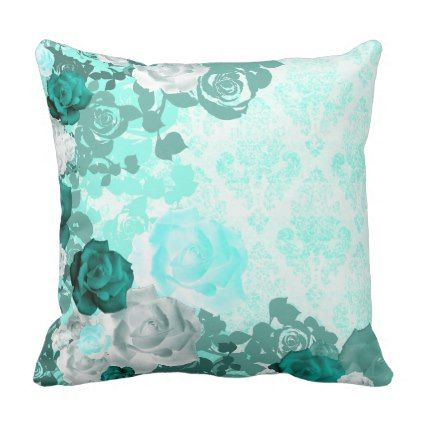 Nature Damasked Collection Throw Pillow dorm decor t ideas