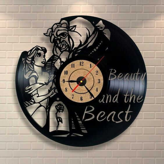 Amazing vinyl record beauty and the beast clock clock etsy listing at