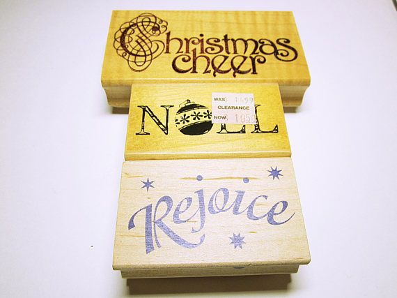 Joy Christmas Stamp Christmas Word JOY  Quote Stamp Card Making Scrapbooking Rubber Stamp Supplies by Inkadinkado Unused CHRISTMAS STAMPS