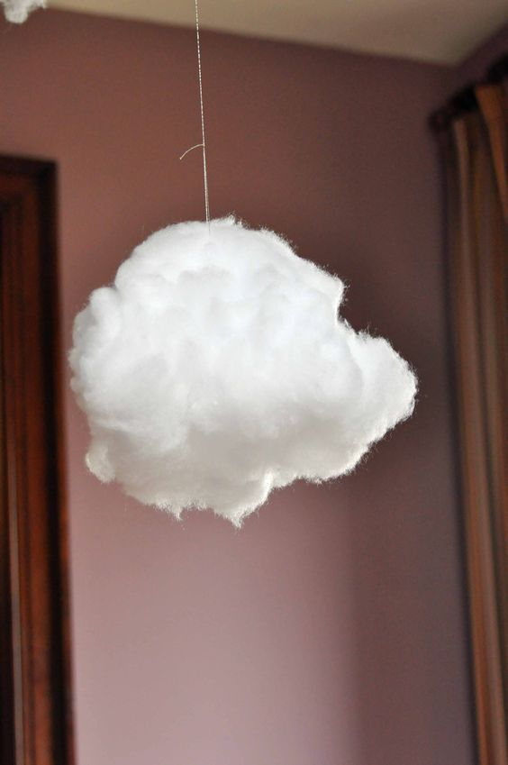How to Build a Cloud Lamp with Sound Reactive Lightning cloud lamp 7 gluing  on stuffing