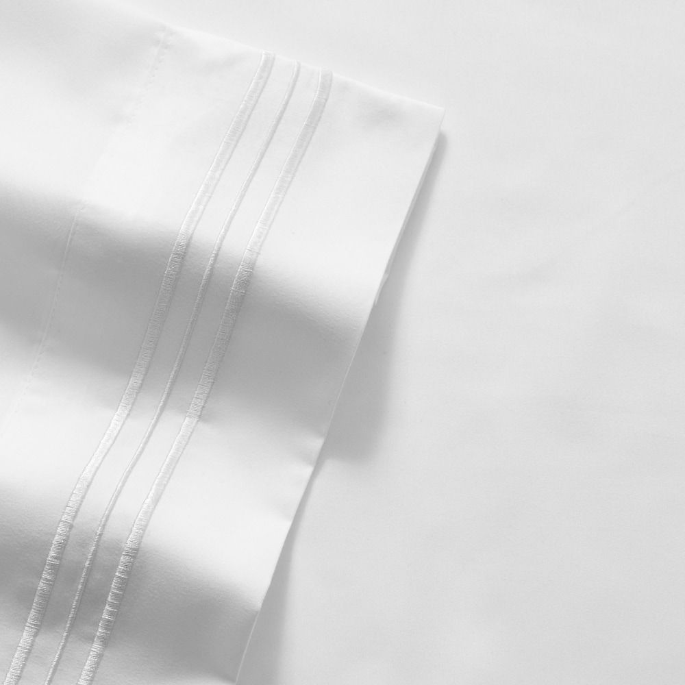Sweet Home Collection 1500 Thread Count Deep Pocket Sheet Set White Twin Sweet Home