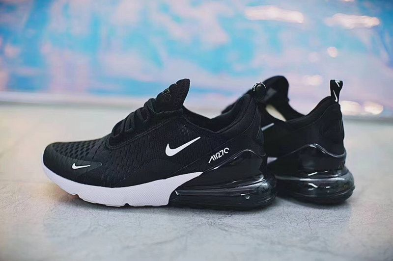 dd6319a0ddf7f Newest Unisex Nike Air Max 270 Black Noir White blanc AH8050-002 Youth Big  Boys Shoes