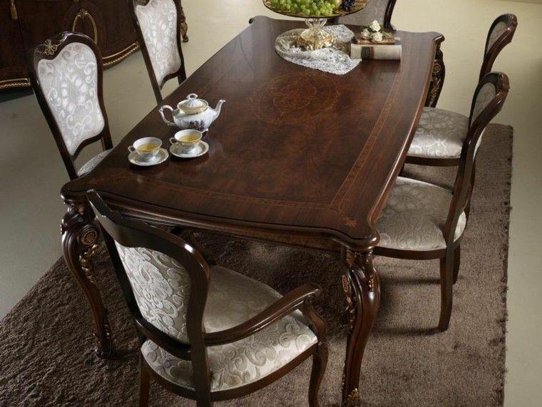 Mesa de madera de color marrón muy oscuro para el comedor moderno ...