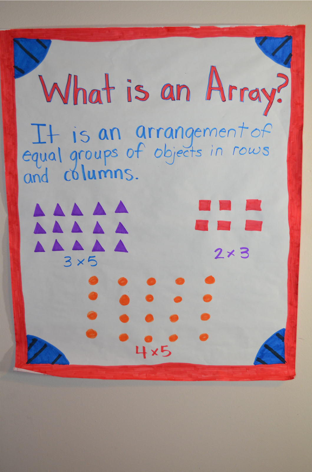 Literacy Amp Math Ideas Multiplication Arrays