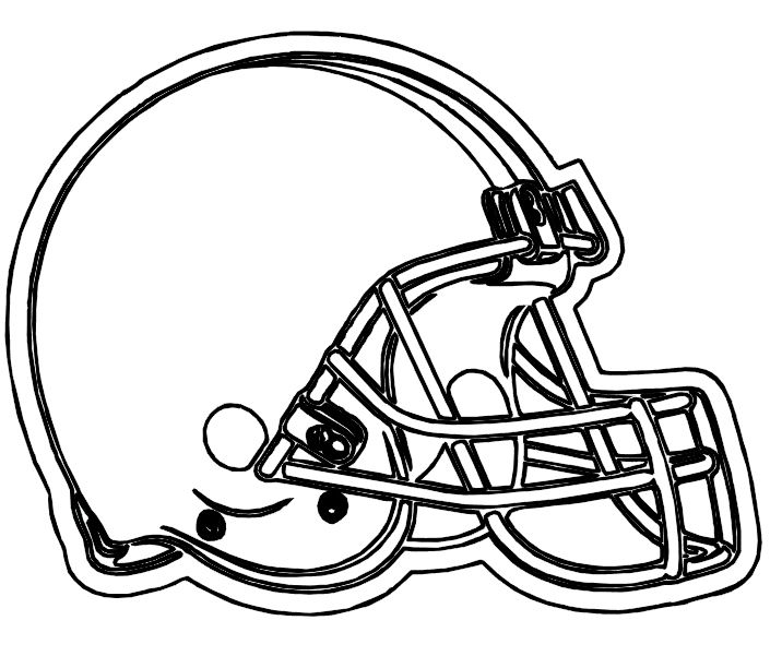 Helmet Football Browns Cleveland Coloring Pages Coloring Pages