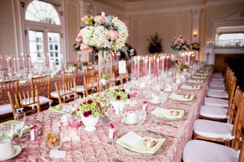 Deco rose et or mariage , deco table rose et or