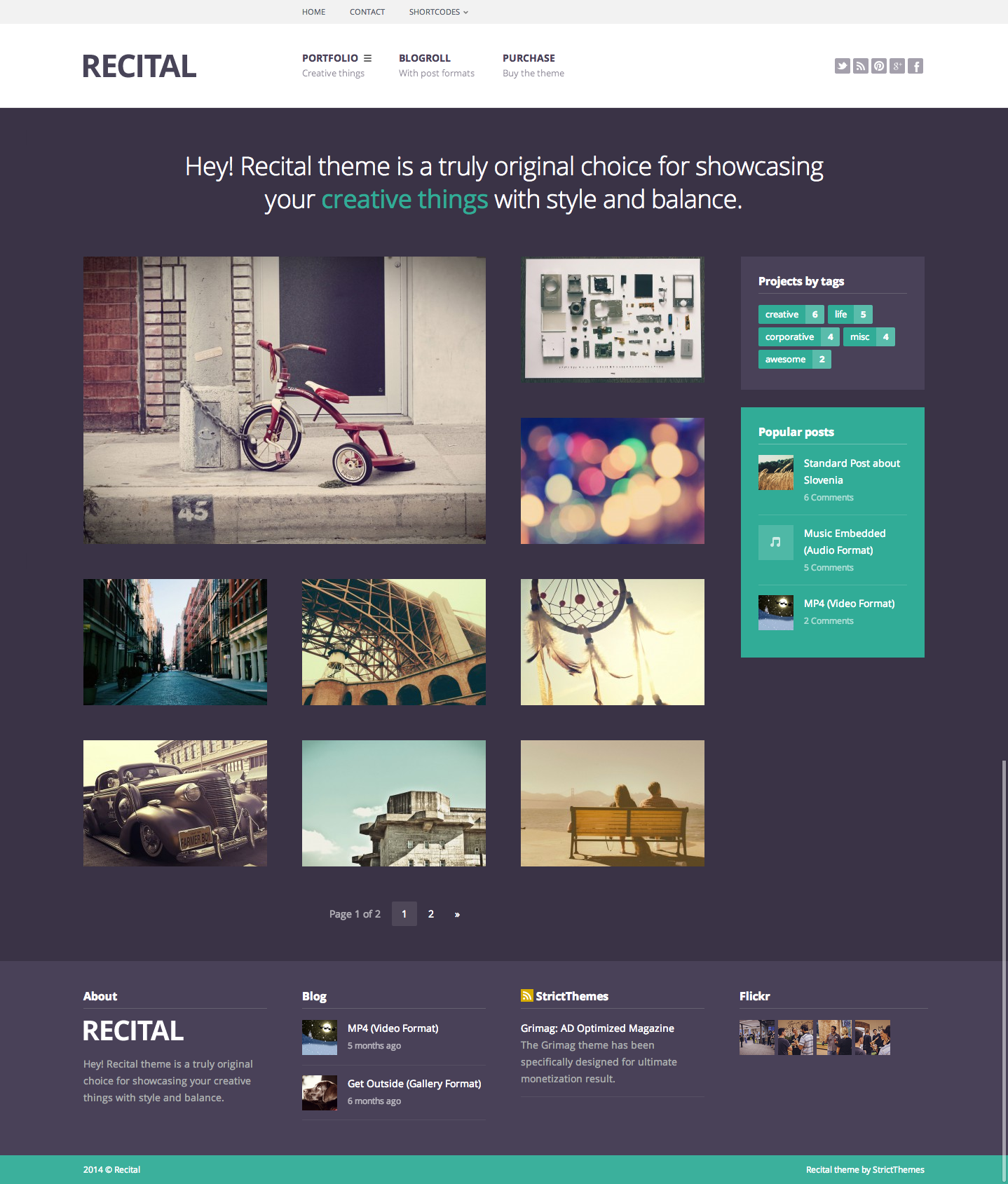 Recital: Portfolio & Blog for Creatives #wordpress #theme ...