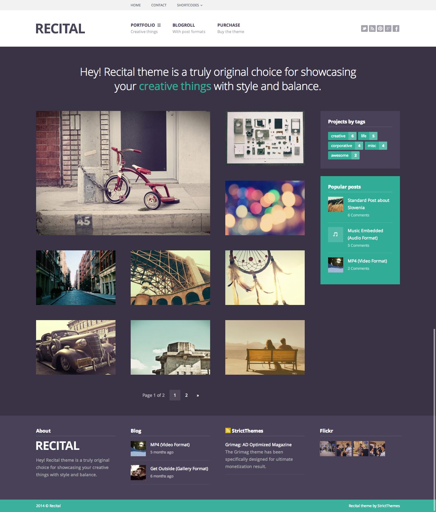 Recital: Portfolio & Blog for Creatives #wordpress #theme #template ...