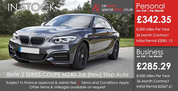 BMW SERIES COUPE Mi Dr Nav Step Auto Car Leases February - Bmw 2 series coupe lease