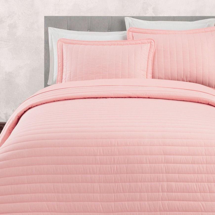 مفرش صيفي مضغوط مزدوج وردي فاتح عدد القطع 6 Bed Home Blanket