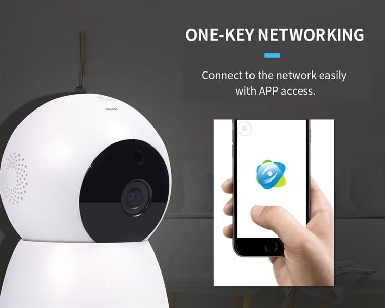 Meisort 360 degree panorama security camera#one-key networking