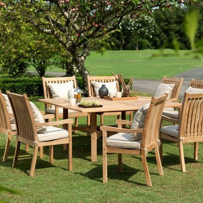 Scancom Teak Patio Furniture | Java Teak Dining Set   American Sale