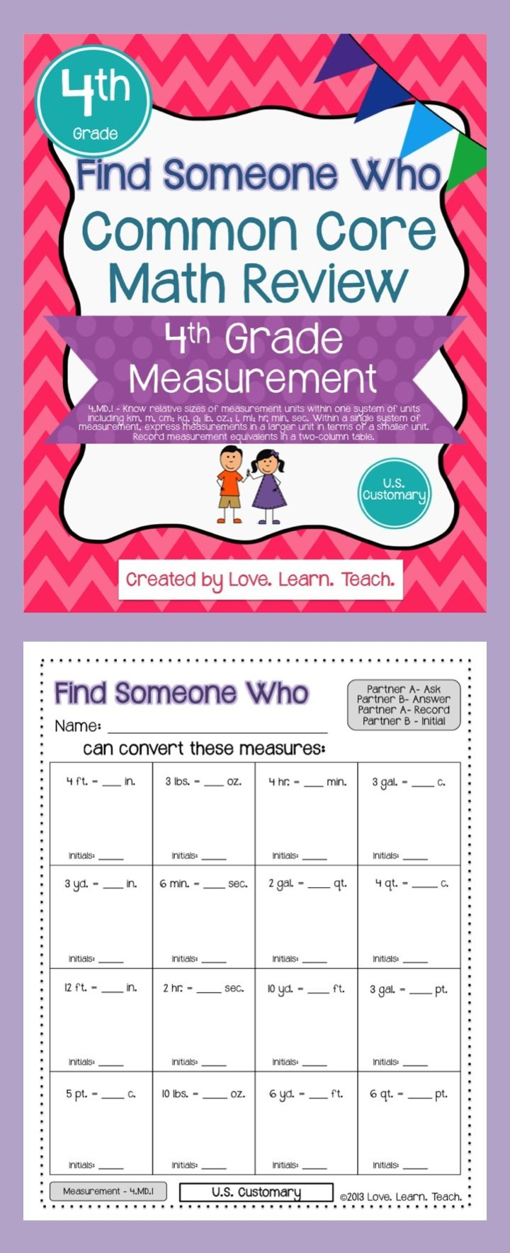 Converting Customary Units of Measurement | Find a Friend ...