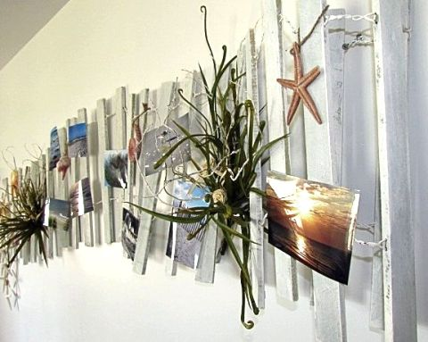 diy beach fence wall decor for the home pinterest. Black Bedroom Furniture Sets. Home Design Ideas