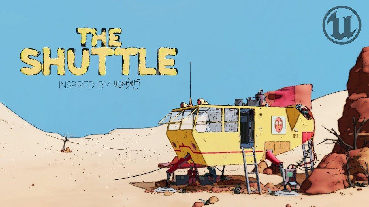The Shuttle Cinematic Scene In Unreal Engine Moebius Cel Shaded Youtube Unreal Engine Cel Scene