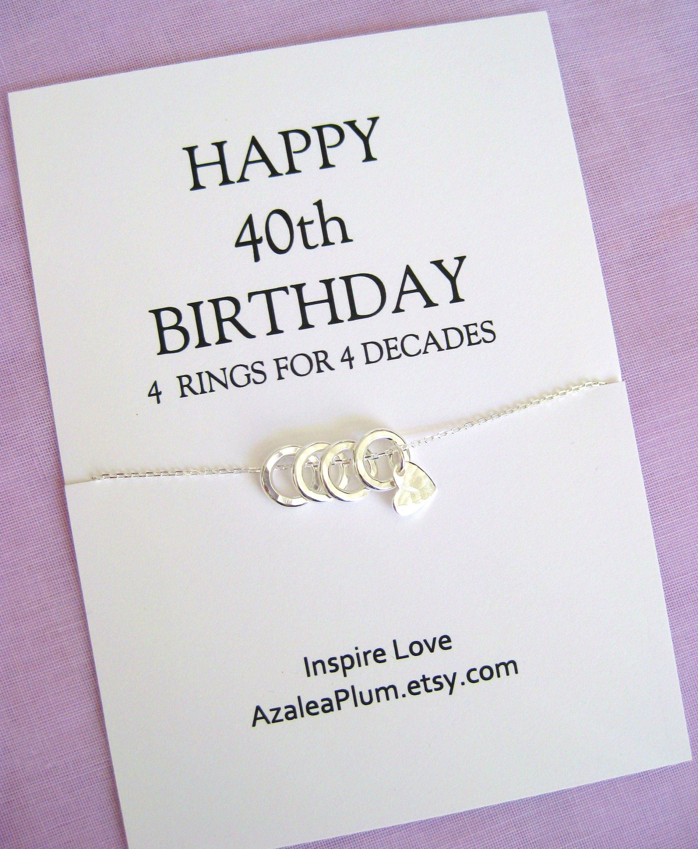 40th Birthday Gifts For Women, 40th Birthday Necklace