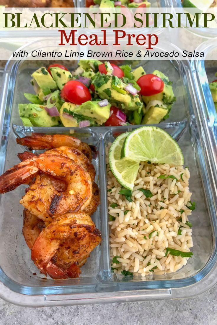 Step up your meal prep game with this super simple, healthy, and delicious Blackened Shrimp Meal Pre...