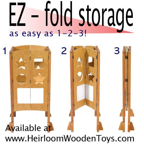 A Foldable Learning Tower How Cool Is This Perfect For