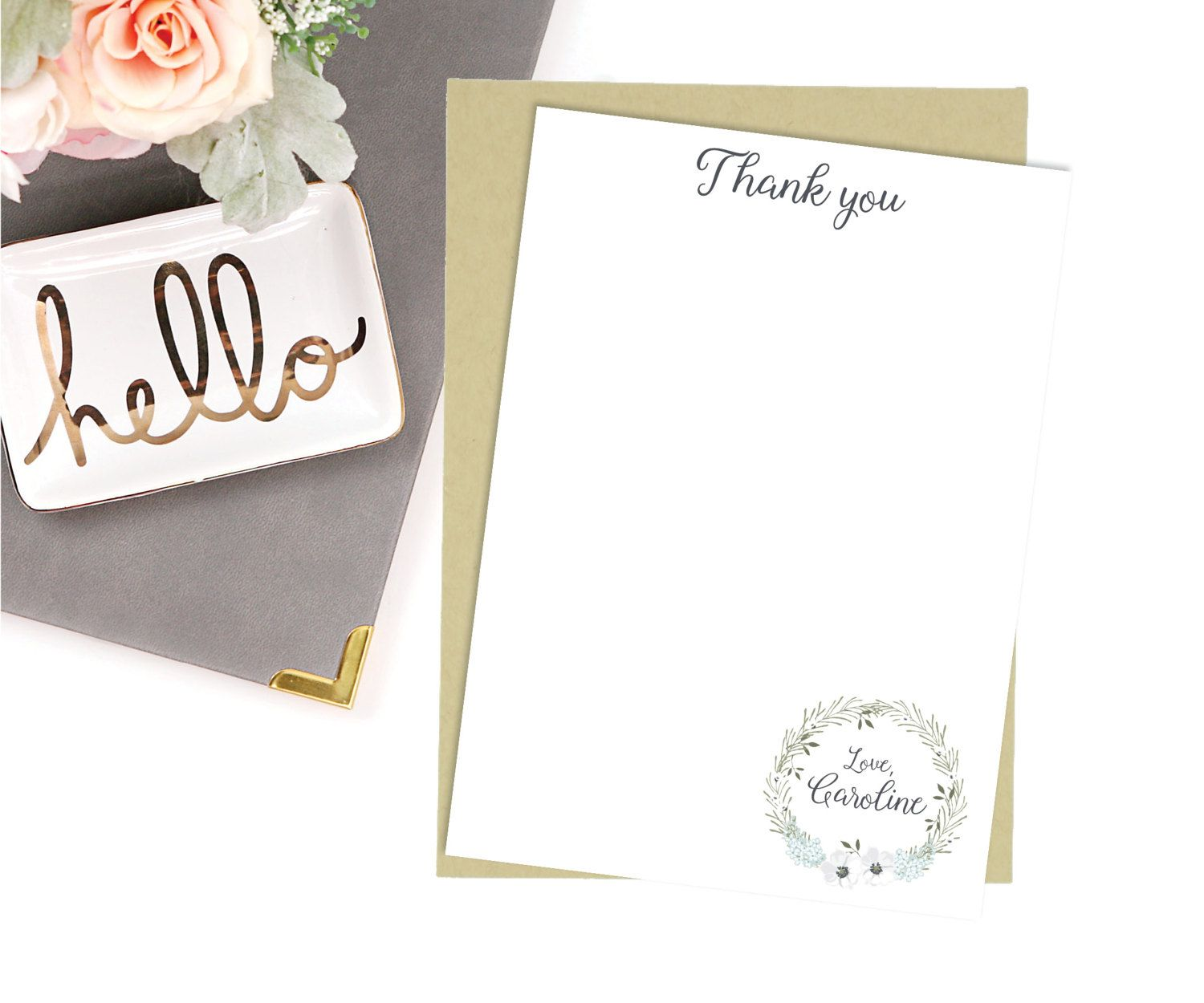 Thank you Stationery Note Cards-Personalized Stationery-Stationery ...
