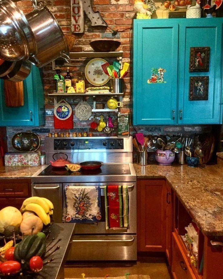 awesome bohemian style kitchen design ideas 14 bohemian style kitchen bohemian kitchen decor on kitchen decor hippie id=42724