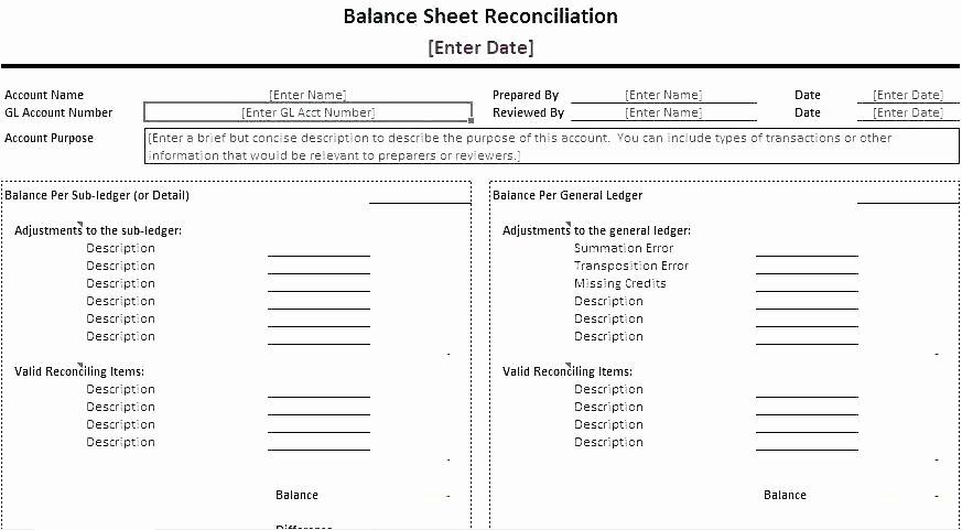 Cam Reconciliation Spreadsheet Unique Balance Sheet Reconciliation