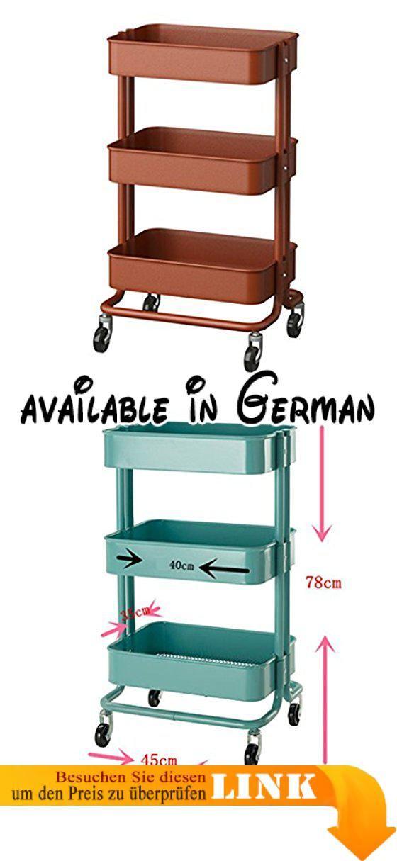 B078J4LWGB  Regal-Einheits-Küchen-Rollenwagen-Badezimmer-Lagerregal - kleine regale für küche