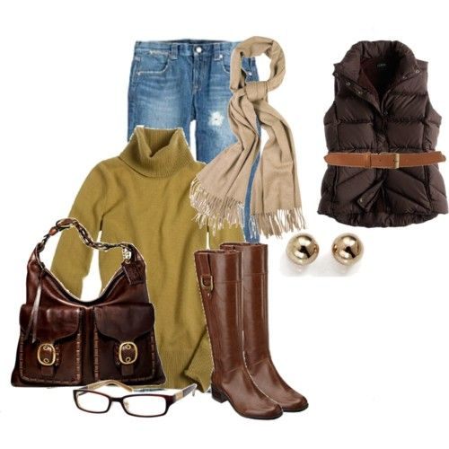 Knee high brown riding boots I need you so much!  Going to ask everyone to give me Lands End gift cards for xmas so I can get a pair.  The rest of the outfit I have.