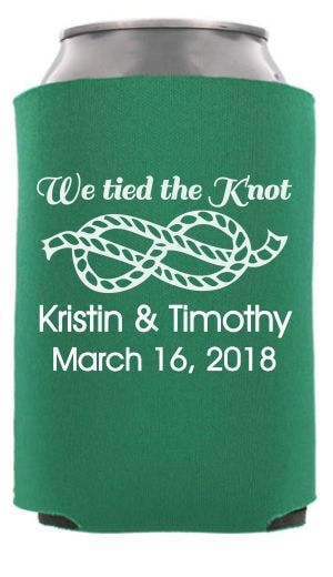 TWC-6518 - We Tied the Knot - Funny Wedding Can Cooler #koozie #wedding