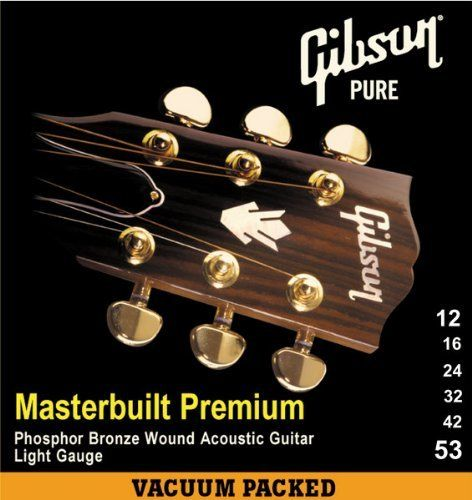 Gibson Masterbuilt Premium Phosphor Bronze Acoustic Guitar Strings Light 12 53 By Gibson Gear 7 99 S Acoustic Guitar Strings Acoustic Guitar Guitar Strings