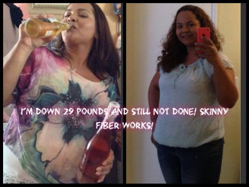 Ana Patricia M. great weight loss story!!!  Ok, here I am 29 pounds down with the help of Skinny Fiber, diet and exercise. I have hypothyroidism so I feel that without a proper diet or exercise, my weight loss success couldn't be possible. What do you think? I see a difference.
