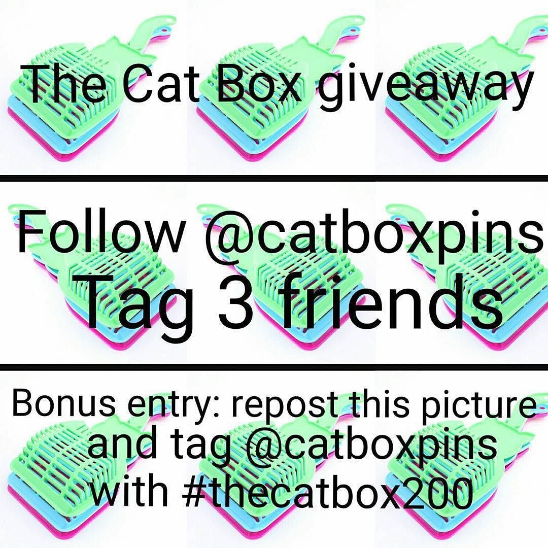 #Repost @catboxpins  Hey friends! I woke up to almost 100 new followers and as promised it's time for a giveaway! The winner will receive a Doofy pin now and a Pennywise pin and patch when they arrive! That's right TWO PRIZES ONE WINNER! Follow the instructions in the picture! No giveaway accounts I will check!Must be following page to enter but please don't follow to unfollow that's lame. Bonus entry: post a picture of your cat (or a friends cat) with the same tags and they could be chosen…