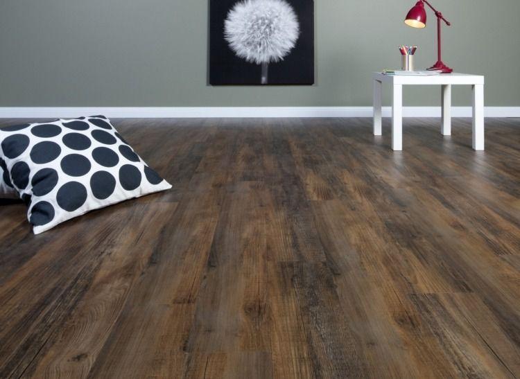 sehr angesagter Vintage Look auch mit Linoleum möglich Fußboden - Laminat Grau Wohnzimmer