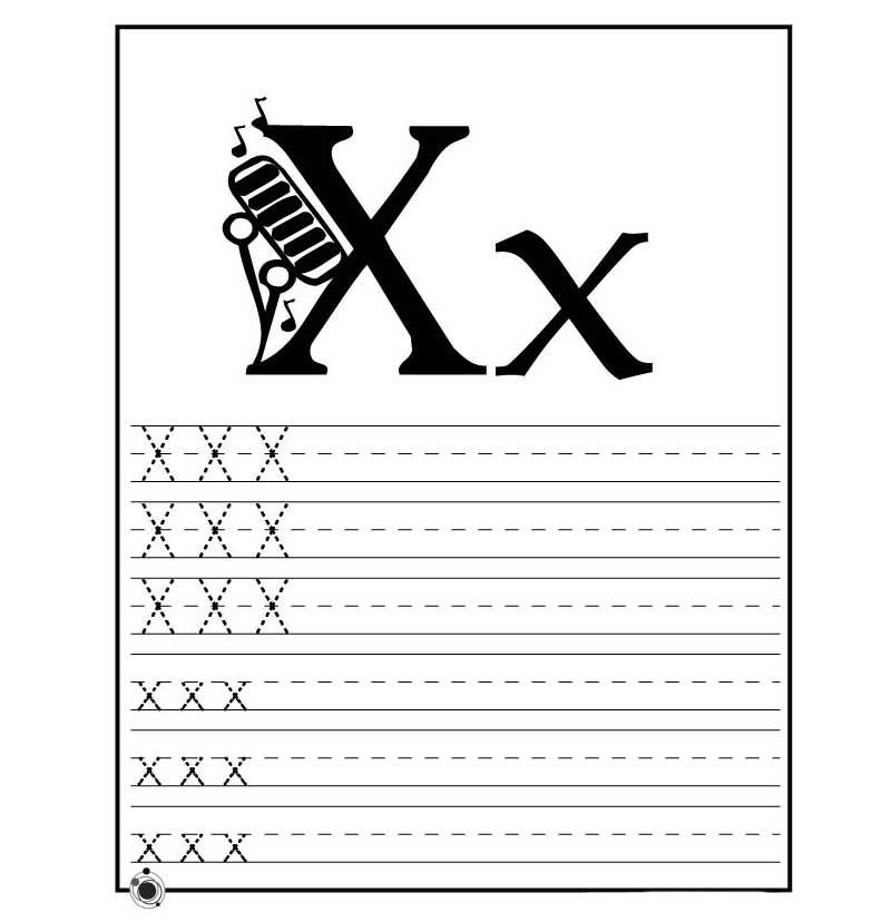 letter x preschool - 800×828