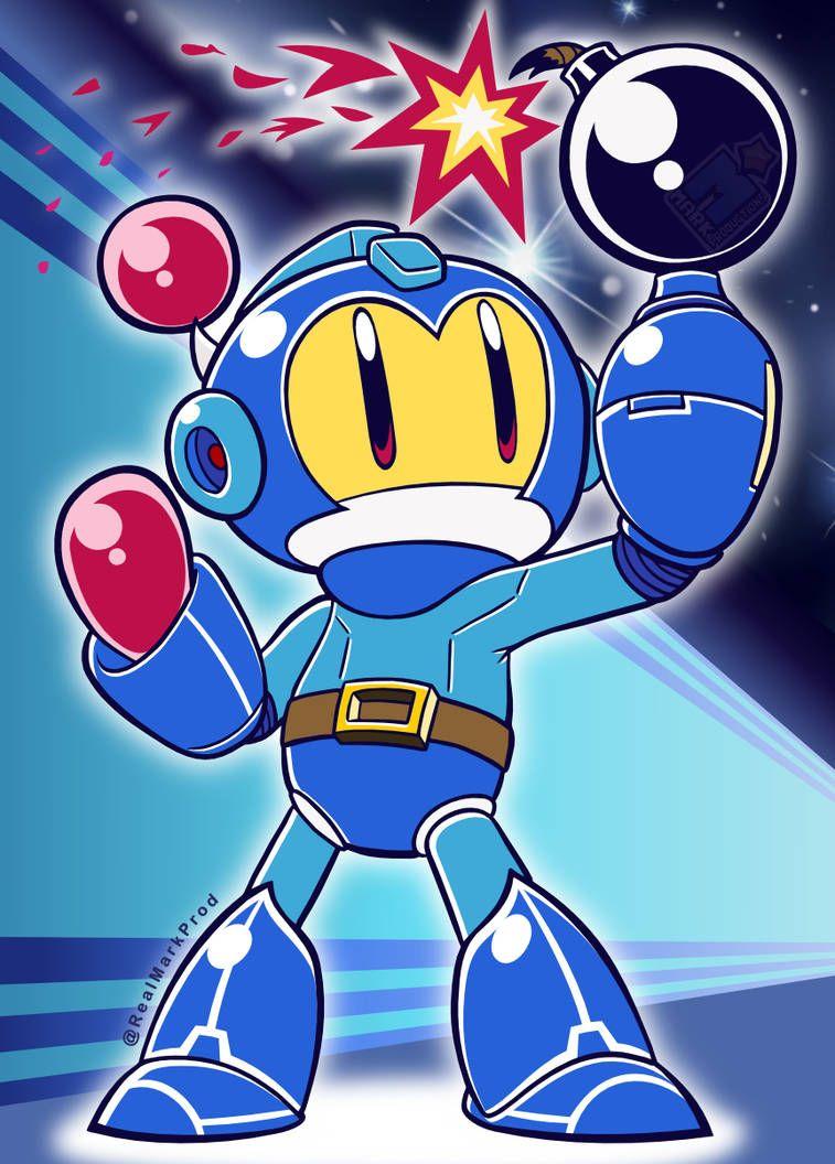 Blue Bomber Mega Man Bomberman Crossover By Https Www Deviantart Com Markproductions On Deviantart Mega Man Bomberman Art Anime Fnaf