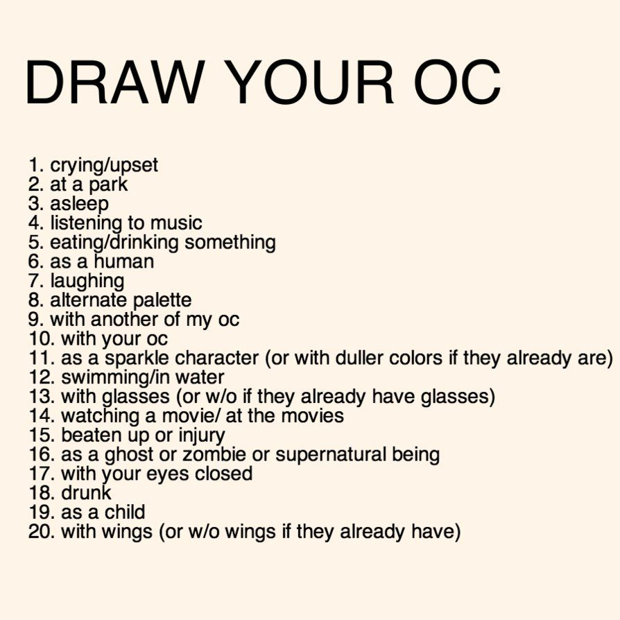 I don't have any OC's yet so I want you to choose first ... Then I'll make my own #drawingprompts