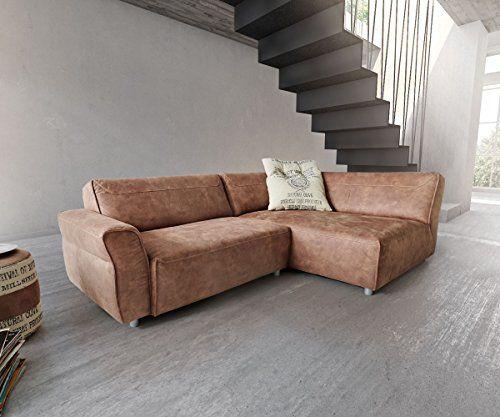 eckcouch loft braun 255x160 cm ottomane rechts by ultsch ecksofa moebel pinterest. Black Bedroom Furniture Sets. Home Design Ideas