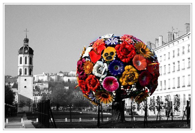 Extrêmement Flower Tree, bouquet de fleurs géant du plasticien coréen Jeong  ZS25