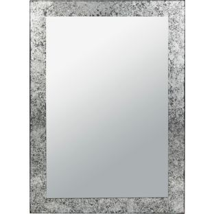 Buy Argos Home India Crackle Glass Wall Mirror Silver Mirrors Argos Mirror Silver Mirrors Mirror Wall