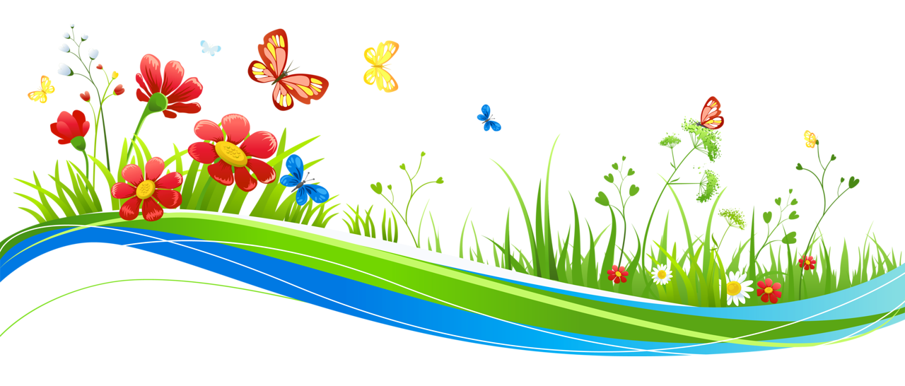 Transparent Decoration With Flowers And Butterflies Png