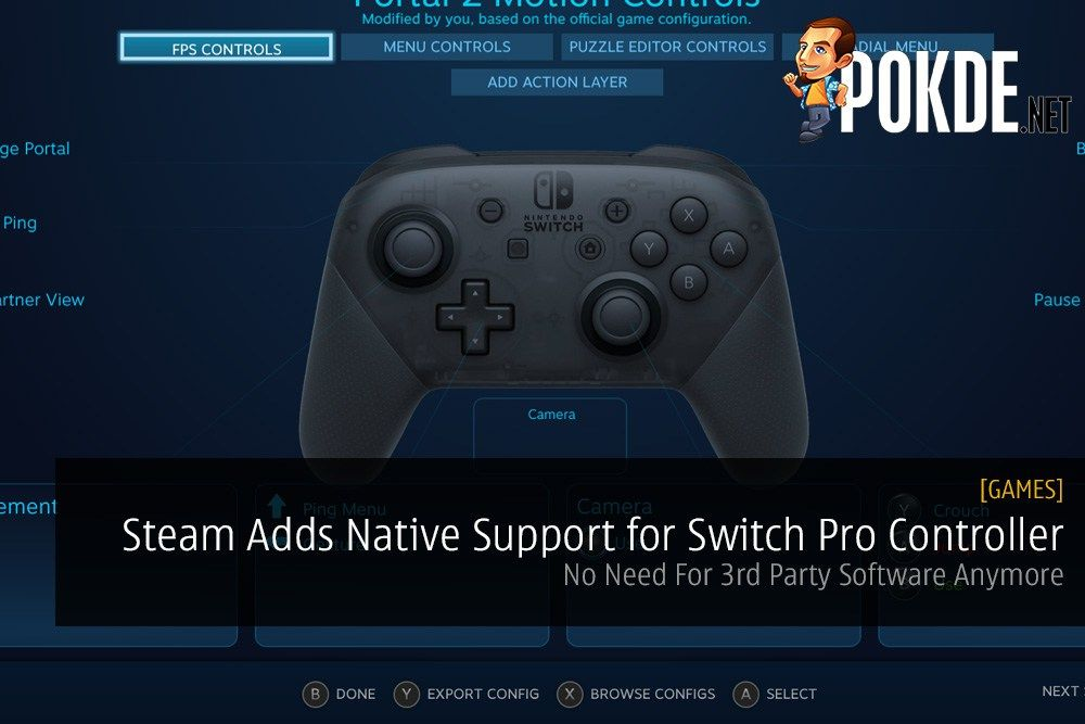 Steam Adds Native Support for Nintendo Switch Pro Controller