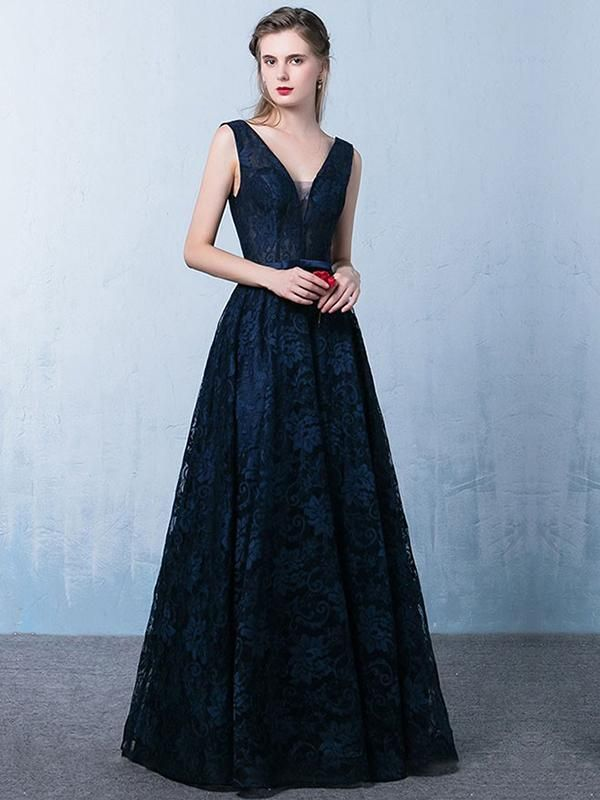 8f4998fe61c 2018 A Line Prom Dress Modest Beautiful Lace Cheap Long Prom Dress M1395