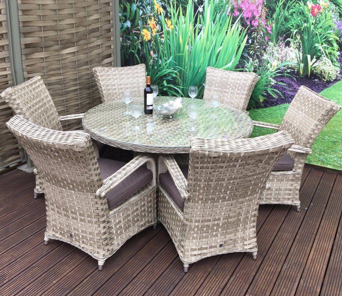 814ffa809eb9 Rowlinson Thornbury Natural Corner Dining Set. Buy Rowlinson Thornbury 6  Piece Grey Rattan ...