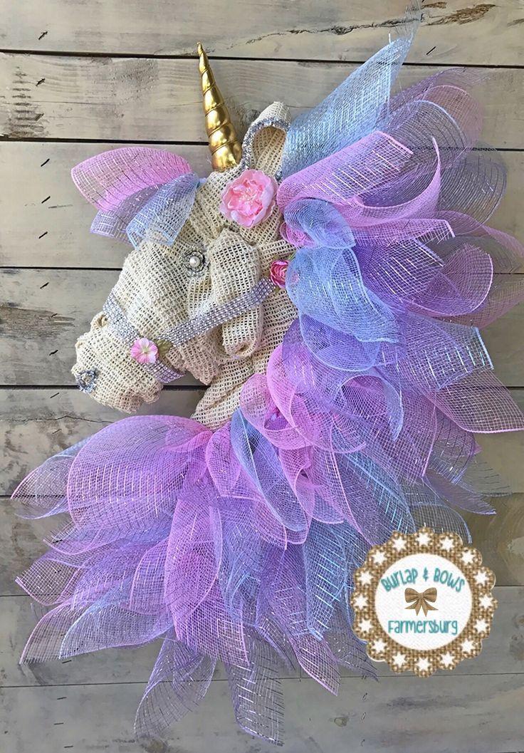 Unicorn Wreath By Burlap And Bows Farmersburg On Facebook